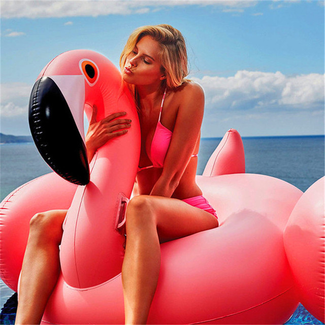 Giant Inflatable Swimming Rings Flamingos Pool Floats 3