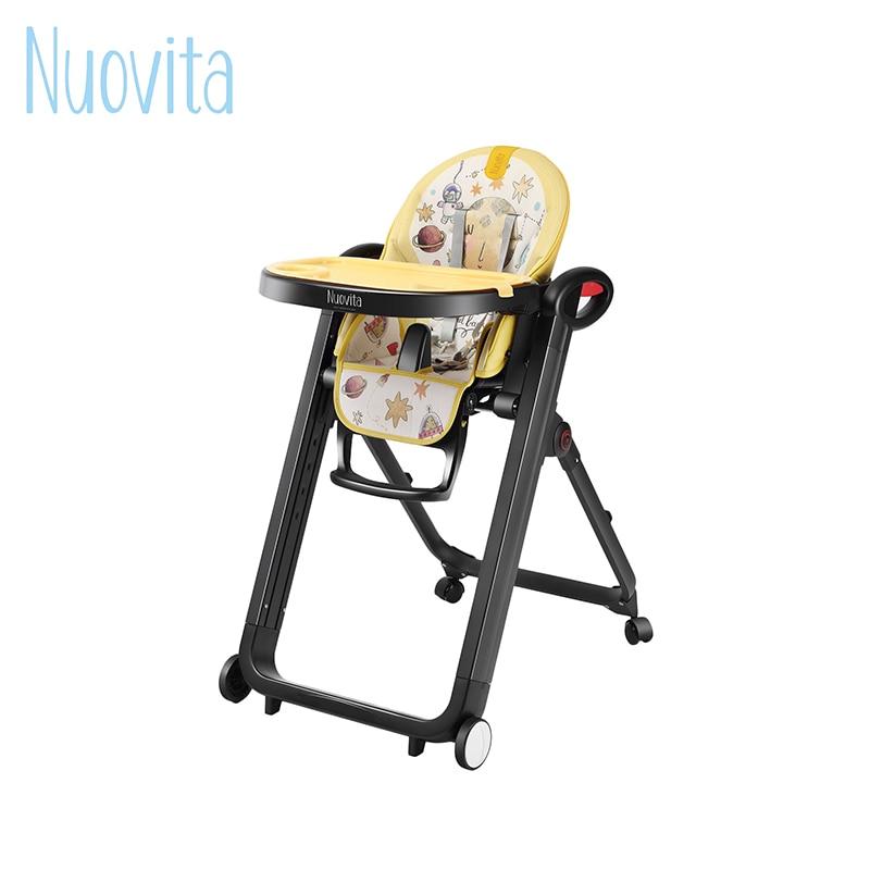 Стульчик для кормления Nuovita Futuro Nero с принтом