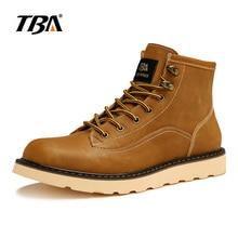 TBA/3802 зимняя кожаная повседневная обувь, мужские высокие рабочие ботинки, размер 38-44