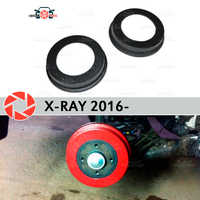 Brake drum linings for Lada X-Ray 2016- car styling decoration protection scuff panel accessories cover rear brake drums