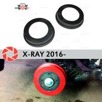 Lonas de freio a tambor para Lada X-Ray 2016-car styling decoração proteção painel scuff acessórios tampa do freio traseiro tambores