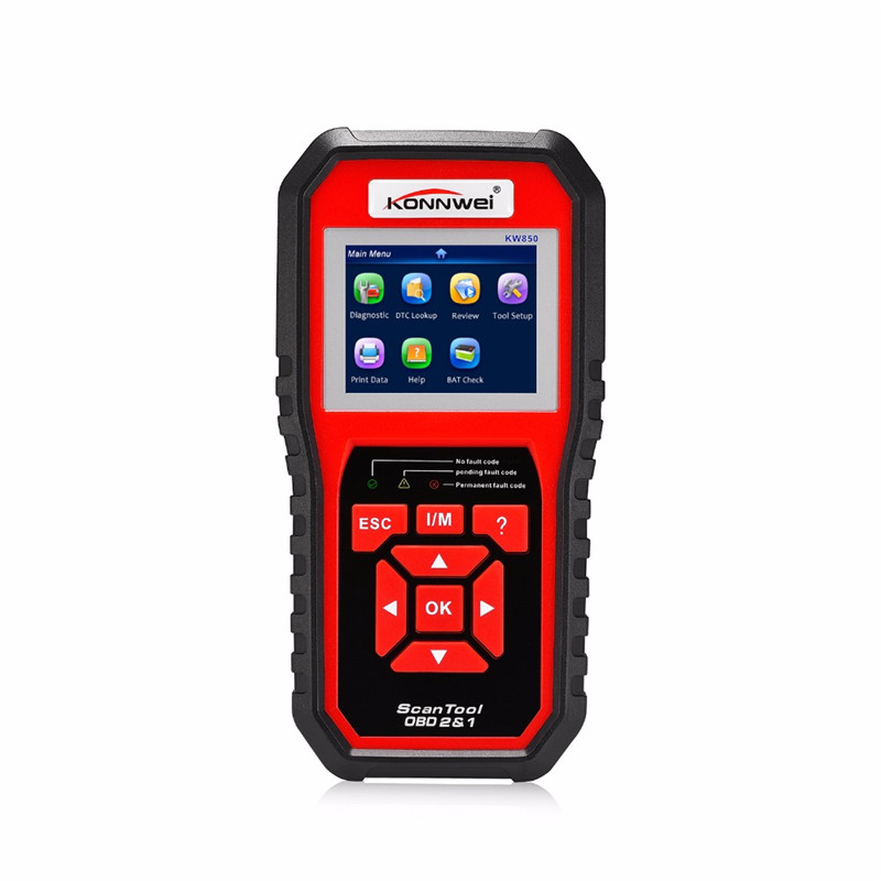 KONNWEI KW850 Obd2 Eobd Can OBDII Auto Diagnostic Code Scanner Better Than Al519 Ad410 Ad510 Scan Tool