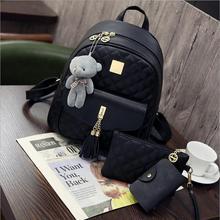 Новая мода пу двойной плечо сумка многофункциональный рюкзак швейных ниток двухместный сумка Алмаз Рюкзак