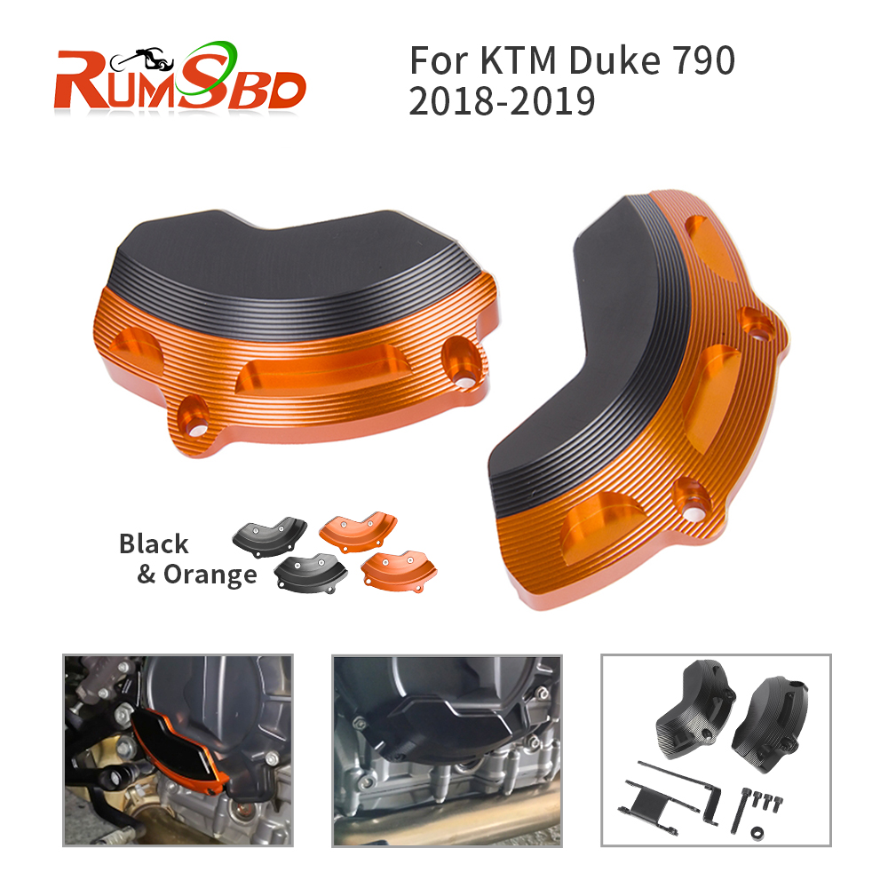 For KTM Duke 790 Frame Sliders 2018 2019 Engine Guard Stator Case Cover Side Protector Crash Falling Protection CNC Aluminum