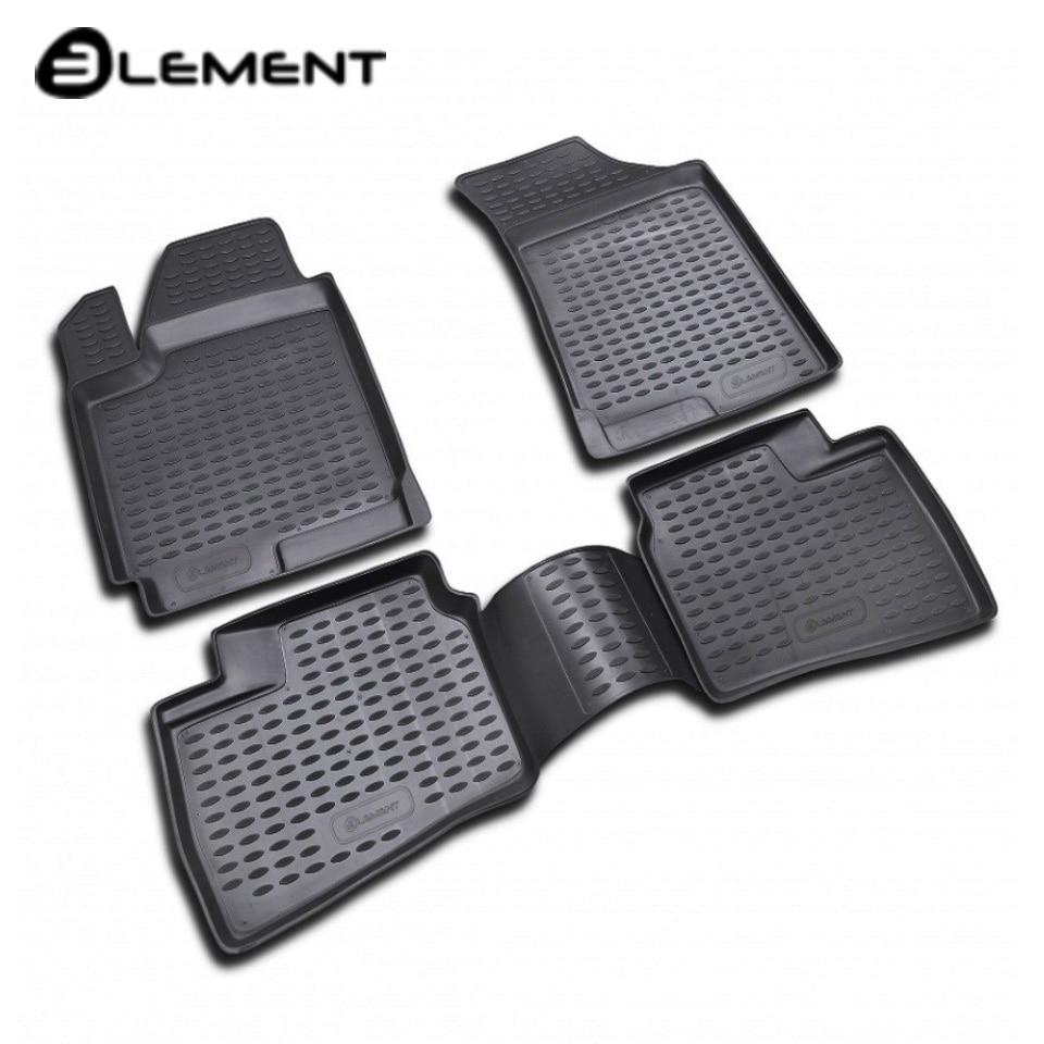 Floor mats into saloon for Hyundai Elantra HD 2007-2010 4 pcs/set  Element NLC2021210H car trunk mat for hyundai elantra hd sedan 2007 2010 element nlc2021b10