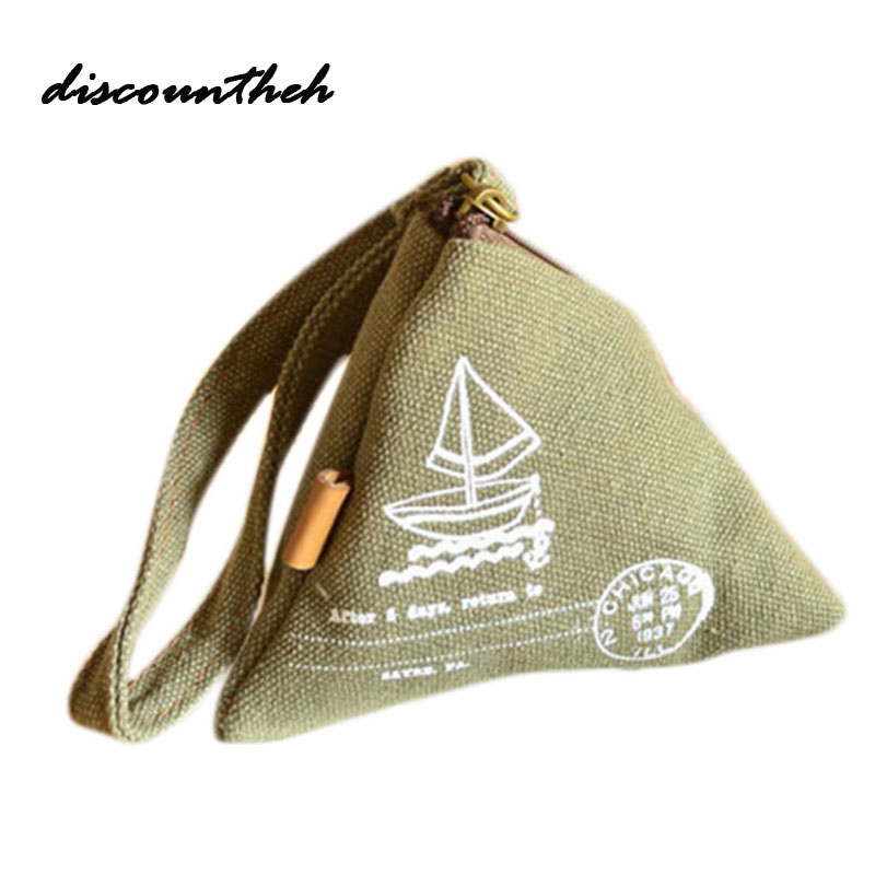 New Romantic Time Dumplings Pattern Mini Wallet Cartoon Coin Purse Paris Tower Sails Print Bags 2017 Classic Retro Coins Purse new time a11