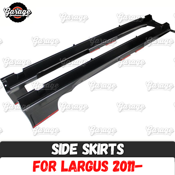 Side skirts for Lada Largus 2011 of door sills ABS plastic pads body kit accessories car