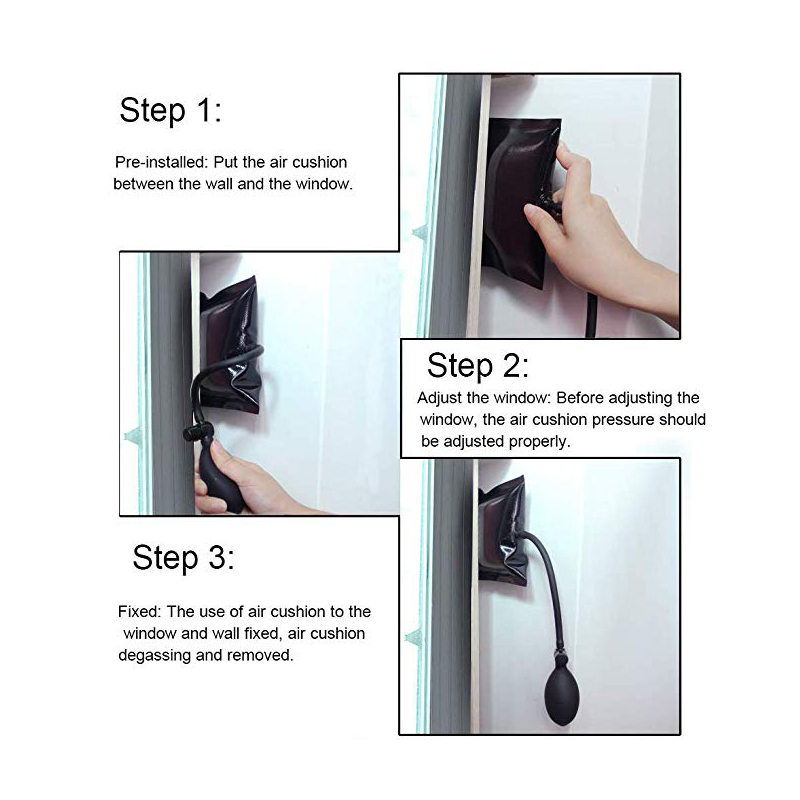 Купить с кэшбэком NAIERDI Pump Wedge Locksmith Hand Tools Pick Set Open Car Door Auto Air Wedge Airbag 6.5 inch Window Repair Supplies Hardware