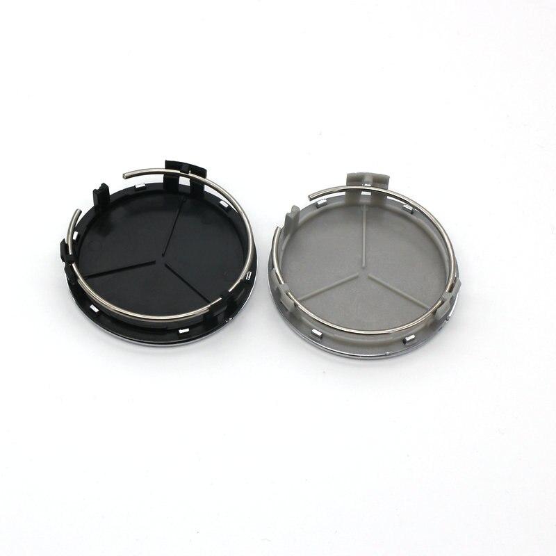 20pcs 75mm Black Silver Wheel Center Caps Wheel Hub Rim Cap Cover Badge Emblem for Mercedes for G M R S Car styling