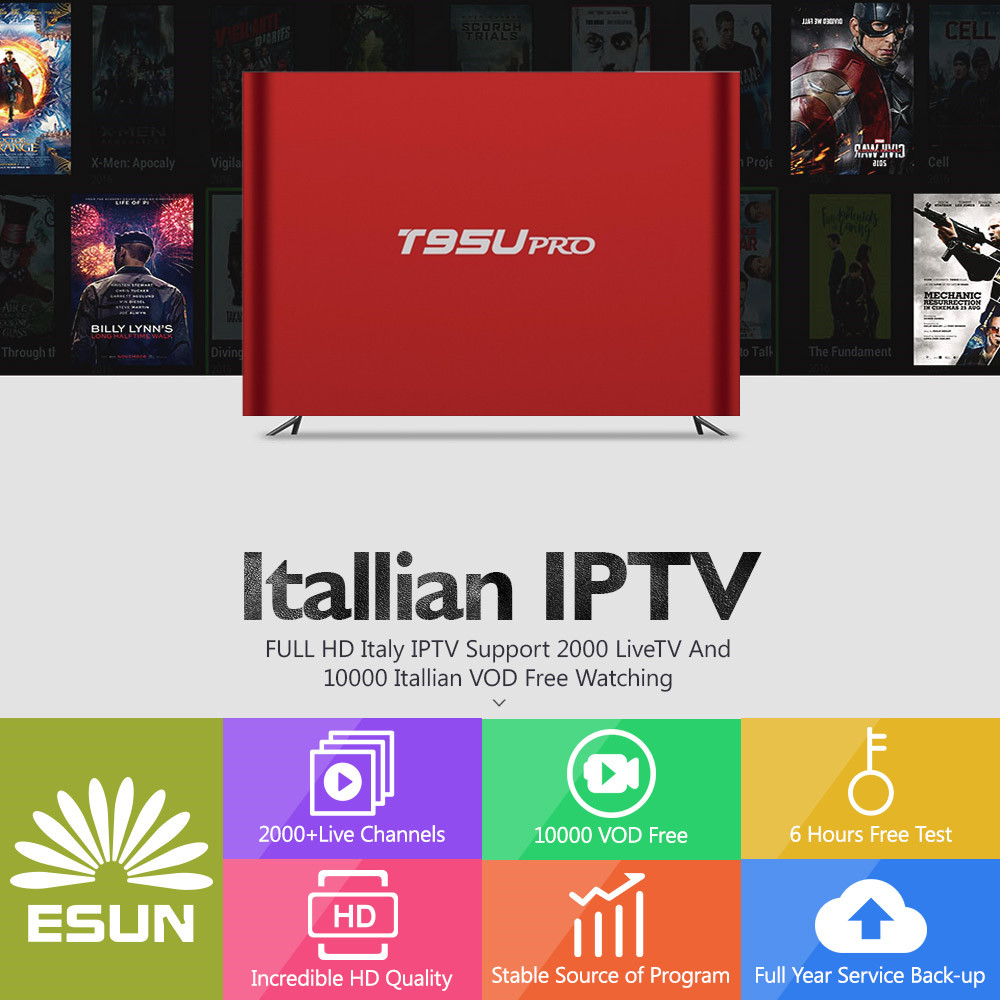 With 1 Year T95Up Italy IPTV2G/16G Amlogic s912 Italy IPTV EPG 4000+Live+VOD configured Europe Albania ex-yu XXX channels BOX a95x pro voice control with 1 year italy iptv box 2g 16g italy iptv epg 4000 live vod configured europe albania ex yu xxx