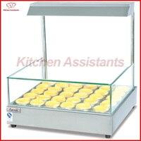 DH210 коммерческий Электрический яичный пирог нержавеющая сталь горячего стекло дисплея Витрина