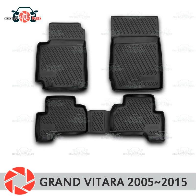 Tapis de sol pour Suzuki Grand Vitara 2005 ~ 2015 tapis antidérapant polyuréthane protection contre la saleté accessoires de style de voiture intérieure