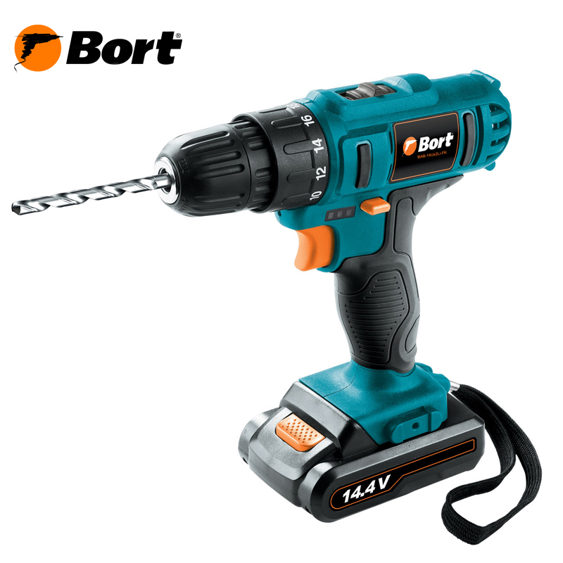 14V Bort Li-Ion Lithium Battery Electric Drill Cordless Screwdriver Mini Drill Cordless Screwdriver Power Tools Cordless Drill BAB-14Ux2Li-FK li ion battery electric cordless screwdriver set led light indicator and multi bits sockets