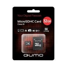 Карта памяти QUMO QM32GMICSDHC10 microSDHC 32GB