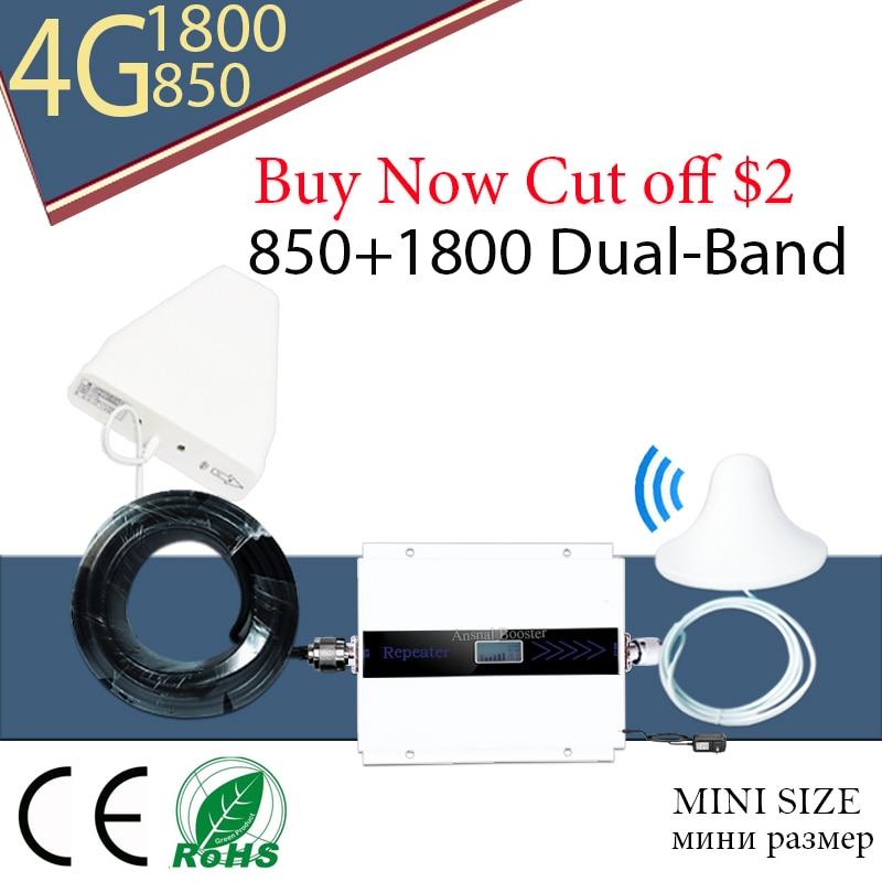 Gsm Repeater LTE 1800 Repetidor CDMA 850 Dual Band Mobile Signal Booster Repetidor Sinal De Celular Lte1800mhz 850mhz Amplifier