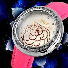New silver watch women Leather water resistant lady jewelry