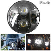 HOZAN 7 Inch 45W Round Lens H4 LED Headlights For Jeep Wrangler JK Harley Black