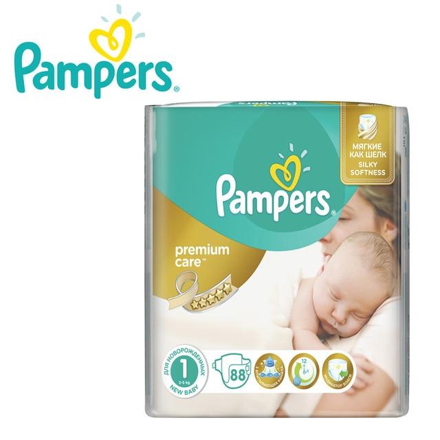 Подгузники Pampers Premium Care 2-5 кг, размер 1, 88 шт.