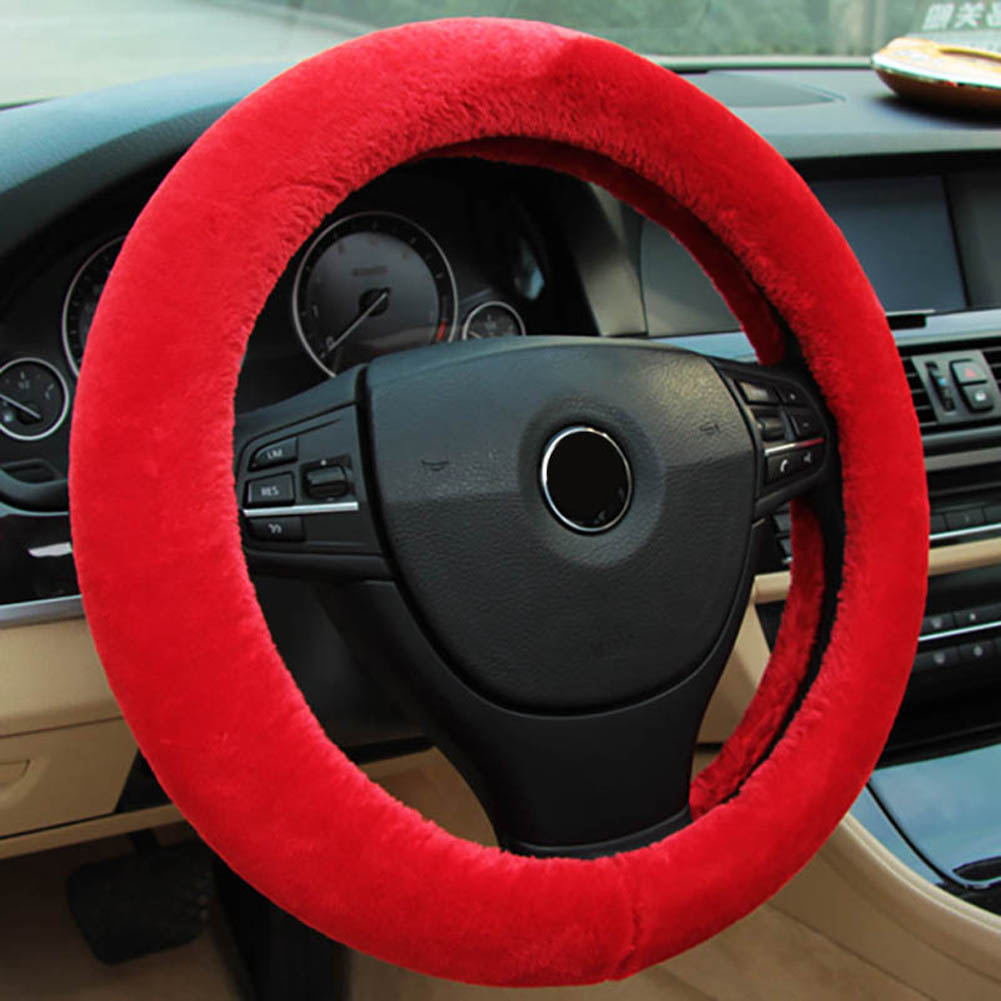 Winter Steering Wheel Cover+Handbrake cover + car Automatic Covers / Warm Super thick Plush Gear Shift Collar