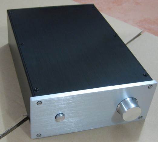 JC229G All Aluminum Housing Power Amplifier Chassis DIY Enclosure Preamplifier Case Audio Box With Radiator цена 2017