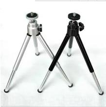 2 pcs Mini Tripé de Alumínio De Metal Leve Tripé de Montagem Para Câmera Digital Webcam Telefone DV Tripé