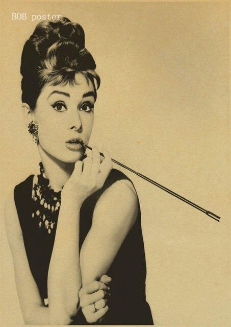 Online Shop Breakfast At Tiffany\'s Audrey Hepburn poster reteo kraft ...