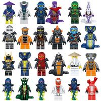 2017 NEW Hot 24PCS Compatible LegoINGlys NinjagoINGlys Set Kai Jay Cole Zane Nya Lloyd Ninjagoes Movie