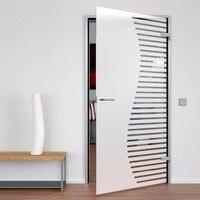 Aço inoxidável porta de vidro frameless pivô portas dobradiça de ferragem alavanca lidar com fechadura