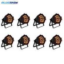 8pcs/lot, Zoom par light LED 18x10W RGBW 4in1 18x12W RGBWA 5in1 18x15w RGBWAUV 6in1 stage wedding dmx dj par zoom