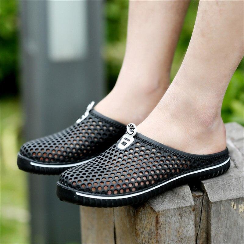 Hombres Zapatillas de Verano Zapatos 2017 Nuevo Ahueca Hacia Fuera - Zapatos de hombre - foto 3