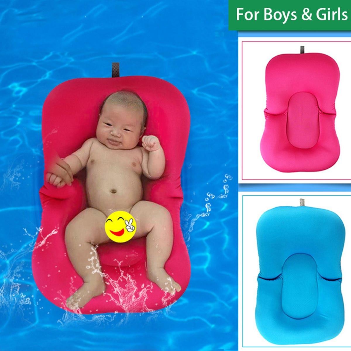 Elastic Fabric Baby Bath Tub Pillow Pad Lounger Air Cushion Floating ...