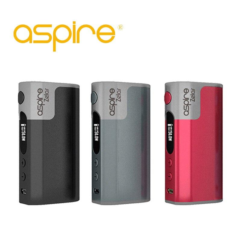 D'origine Aspire Zelos 50 W boîte mod TC batterie vape mods e cigarette mod boîte batterie intégrée VV VW TC Vaper mode E Cig ecigarette