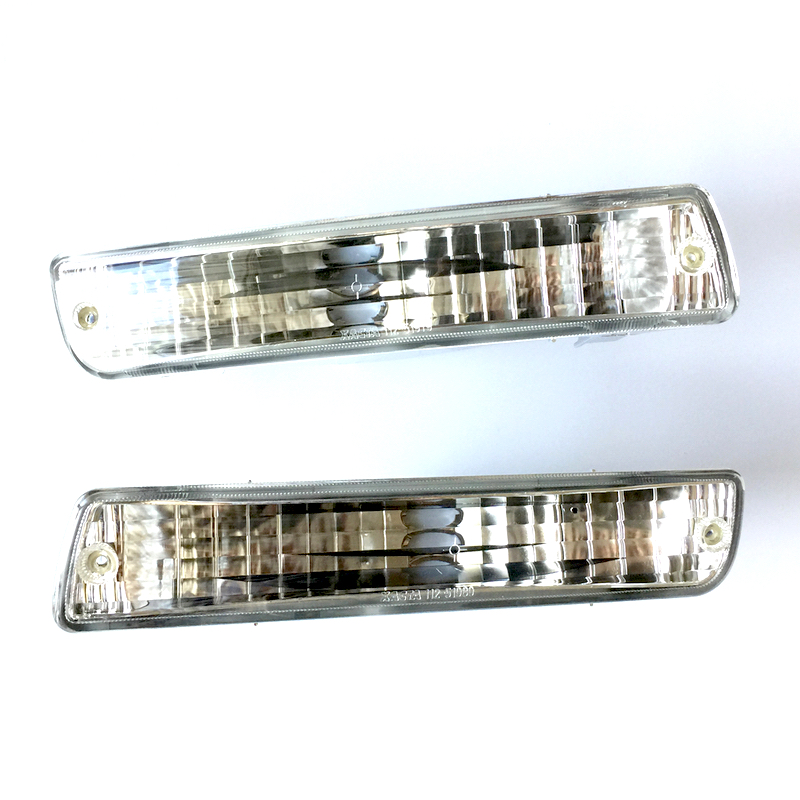 Fits Toyota Land Cruiser 80 1990 1991 1992 1993 1994 1995 1996 1997 1998 Front Turn Signal Lights, Clear Side Marker PAIR