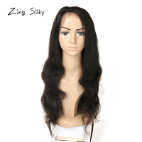 Brazilian Body Wave Full Lace Human Hair Wig With Baby Hair Remy Natural Color Knots Wig Real Hair Zing Silky Hair Vendors