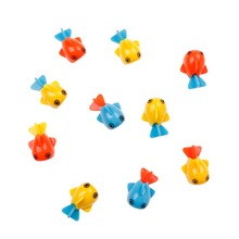 10 Pcs Colorful Magnetic Fishing Toy Rod Model Net Funny Kid Baby Bath Toy