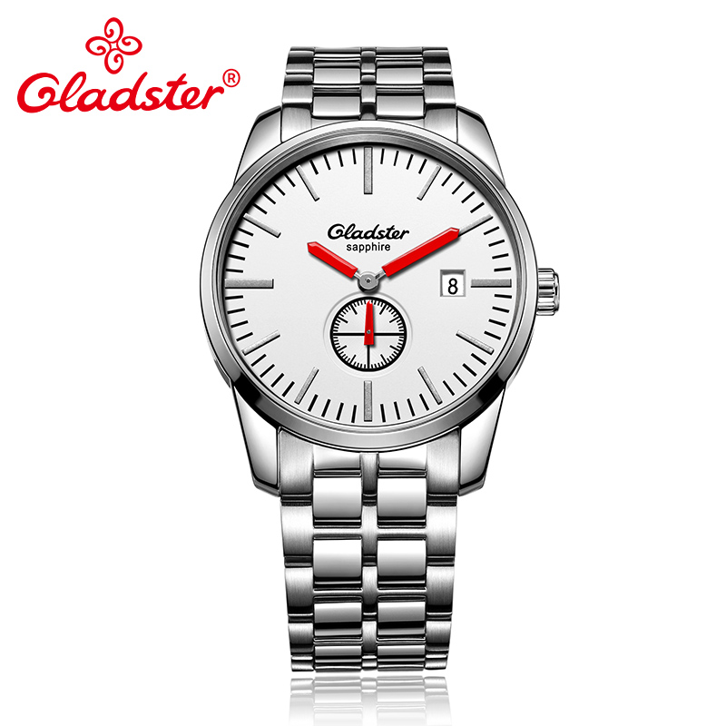Gladster Luxury Japan MIYOTA GP11-3H Waterproof Men Quartz Watch Stainless Steel Man Clocks Single Calendar Male Wristwatch