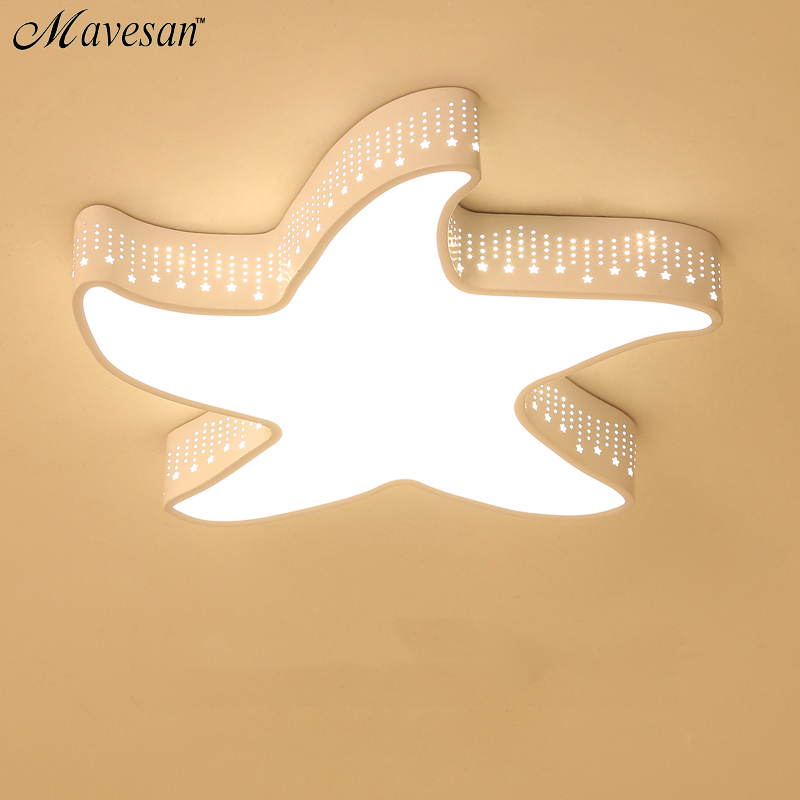 Modern sea star  Ceiling Lights For warm romantic wedding room Ceiling Lamp Luminaire Light  fixtures abajur lamparas de techo