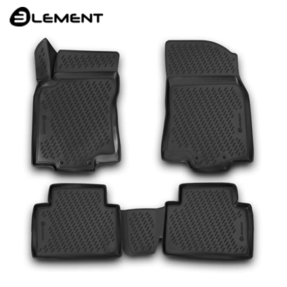 цена For Nissan X-Trail T32 2015-2019 3D floor mats 4 pcs/set Element CARNIS00059 в интернет-магазинах