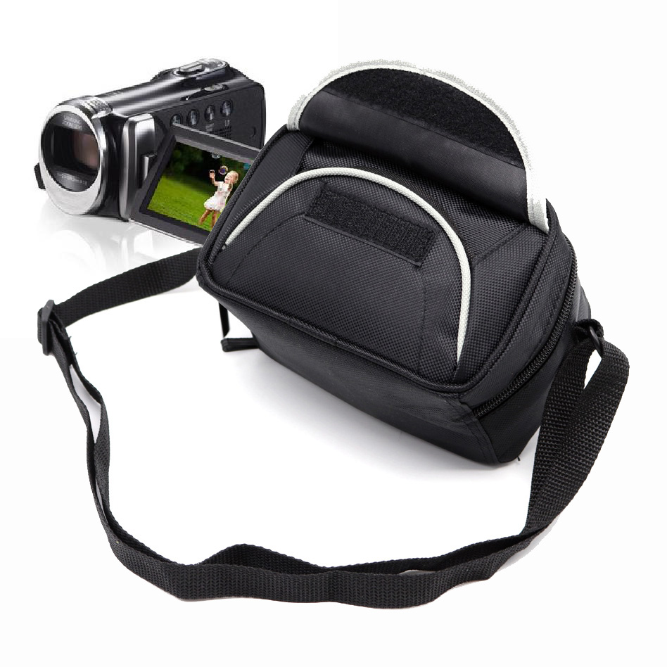 CADEN Camera Video Camcorder DV Bag Case For Panasonic Sony Canon Samsung JVC Sanyo Black Portable Shoulder DV Case image