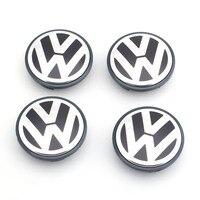 4 adet/takım OEM 65mm Tekerlek Merkezi Cap Logosu Hub VW Jetta MK5 Golf Passat için Kapak Rozeti Amblem