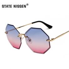e2921285bf STATE NISSEN Fashion Rimless Sunglasses Women Brand Designer Vintage Summer  Ladies Sun Glasses For Female UV400
