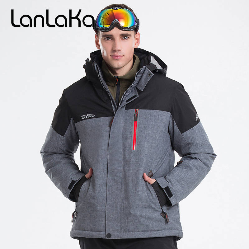 LANLAKA Men Ski Jacket Hiking Jacket Windproof Waterproof Outdoor Sport Wear Skiing Winter Clothing Thermal Riding Jacket Coat 2017 new brand outdoor softshell jacket men hiking jacket winter coat waterproof windproof thermal jacket for hiking camping ski