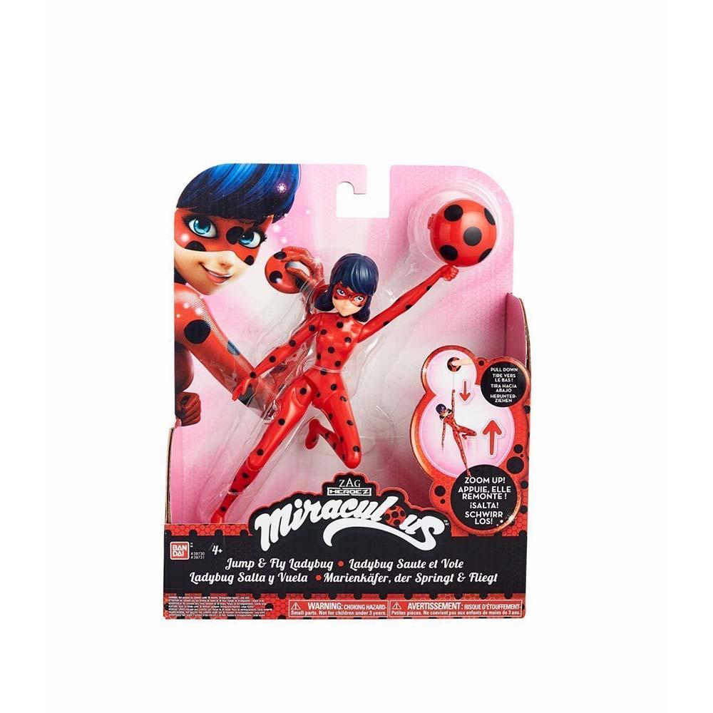 Poupée Bandai Dame Баг et Super Chat Dame Баг (Figure 19 cm) avec ventouse