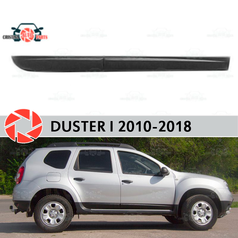 Door moldings for Renault Duster 2010-2018 trim accessories protection decoration exterior car styling epr car styling for mitsubishi evolution evo 6 carbon fiber front bumper canard glossy fibre exterior accessories racing trim page href