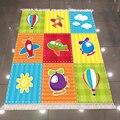 Else зеленый  синий  желтый  оранжевый  красный самолет  игрушки для малышей  3d принт  противоскользящий  моющийся  декоративный ковер для детс...
