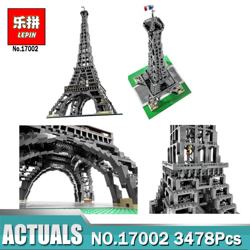LEPIN 17002 City Street The Eiffel Tower Model Building Assembling Brick Toys Compatible Legoings 10181 Blocks