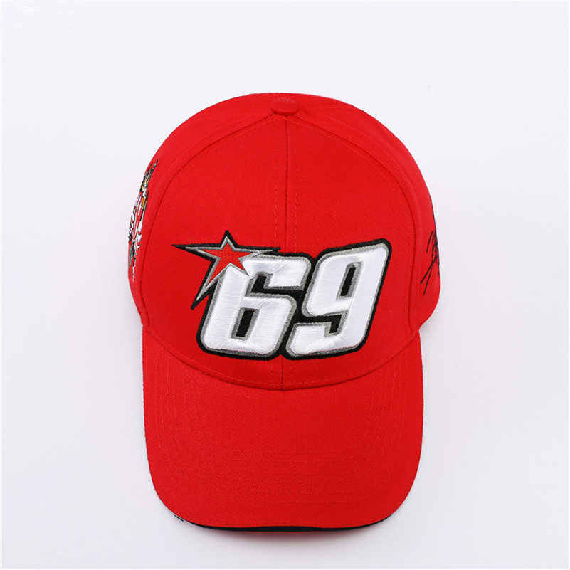 815ba6b2 Moto GP 69 Motorcycle Racing Hat Motocross Riding Hats 3D Embroidered Wing  Racing Team Baseball Cap