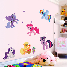 Здесь можно купить   Cartoon for Little Pony Wall Sticker Diy Removable  Art Decal Girl kids Children Room Backdrop Horse diy Wall decoration poster Home Decor