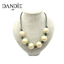 Dandie Trendy  Minimalism Gold Green Acrylic Bead Necklace, Fit For A Party And Everyday Wear