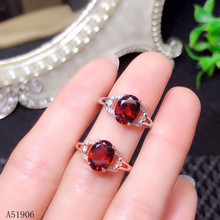 KJJEAXCMY Fine Jewelry 925 sterling silver inlaid natural garnet gemstone female ring support test kjjeaxcmy fine jewelry 925 sterling silver inlaid natural gemstone amber wax female ring support test